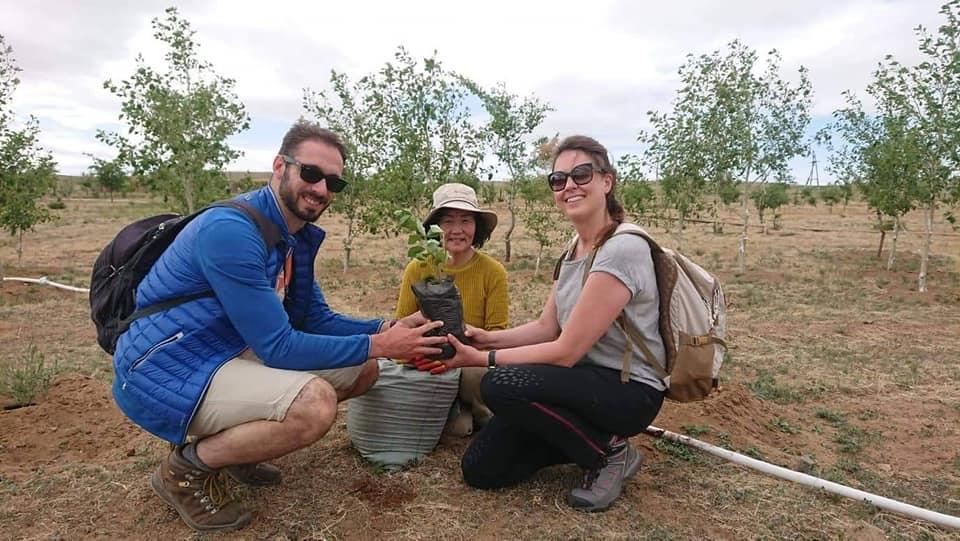Gobi Desert Tree Planting Mongolia